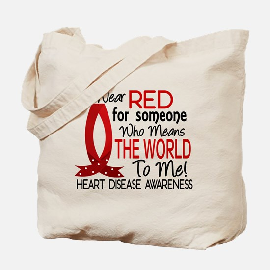Means World To Me 1 Heart Disease Tote Bag
