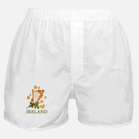 Ireland - Irish Golden Harp Boxer Shorts
