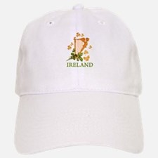 Ireland - Irish Golden Harp Baseball Baseball Cap
