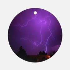 Lightning Strike Ornament (Round)