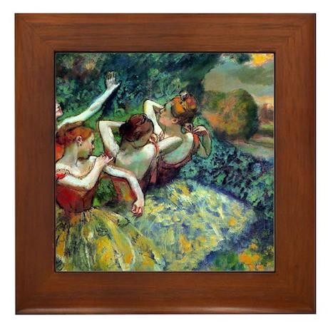 Dancers Framed Tile
