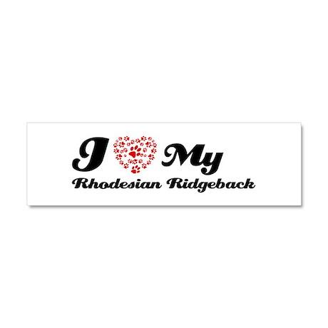 I love My Rhodesian Ridgeback Car Magnet 10 x 3
