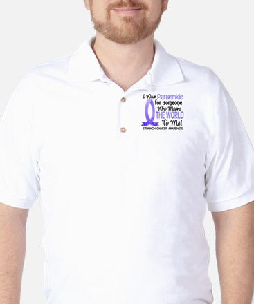 Means World To Me 1 Stomach Cancer Golf Shirt