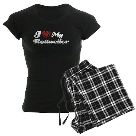 I love My Rottweiler Women's Dark Pajamas