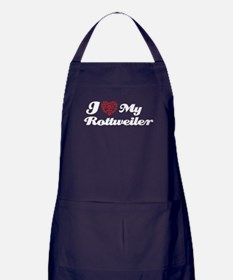 I love My Rottweiler Apron (dark)
