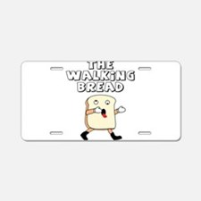 The Walking Bread Aluminum License Plate