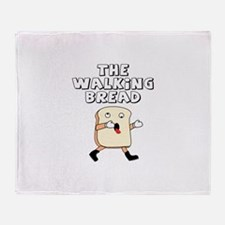 The Walking Bread Throw Blanket