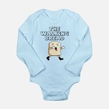 The Walking Bread Long Sleeve Infant Bodysuit