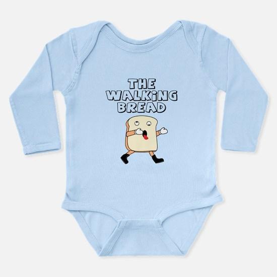 The Walking Bread Long Sleeve Infant Bodysuit
