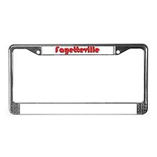 Fayetteville, North Carolina License Plate Frame