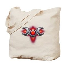 Red Pagan Triple Goddess Tote Bag