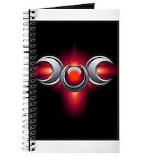Red Pagan Triple Goddess Journal