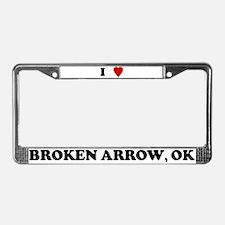I Love Broken Arrow License Plate Frame