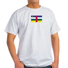 Central African Republic Ash Grey T-Shirt
