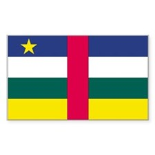 Central African Republic Rectangle Decal