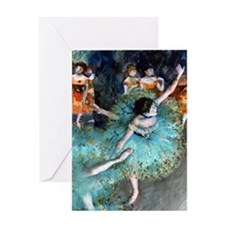 Degas - Green Dancer 1879 Greeting Card