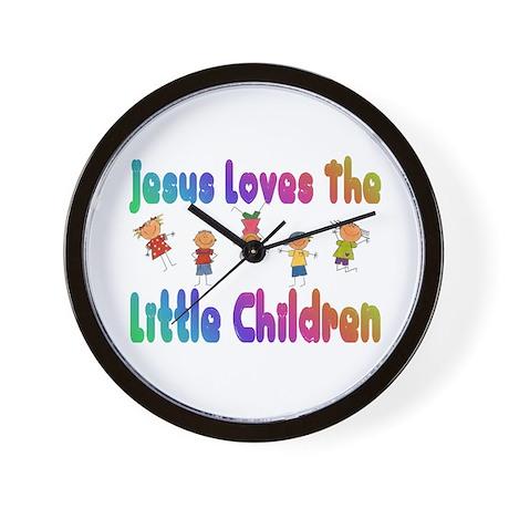 Baby Jesus Loves Wall Clock