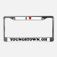 I Love Youngstown License Plate Frame