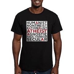 atheist Men's Fitted T-Shirt (dark)