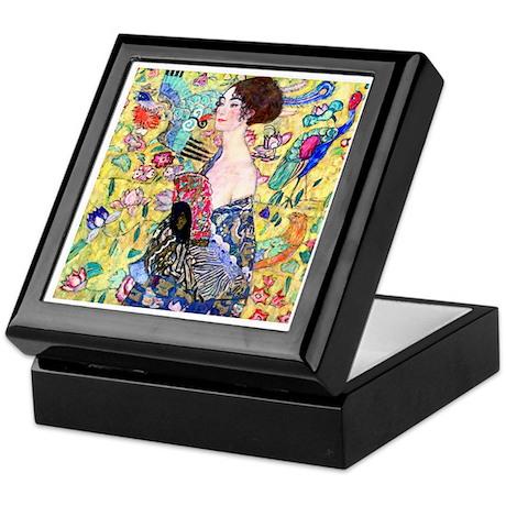 Klimt - Lady w/Fan Keepsake Box