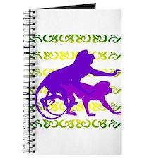 Purple Monkey Scroll Journal