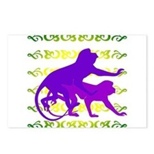 Purple Monkey Scroll Postcards (Package of 8)