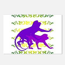 Purple Monkey Scroll Postcards (Package of 8)