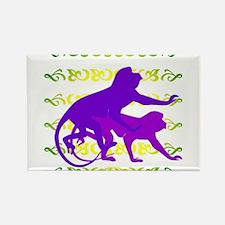 Purple Monkey Scroll Rectangle Magnet (100 pack)