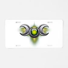 Green Pagan Triple Goddess Aluminum License Plate