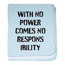 Cute Power responsibility baby blanket