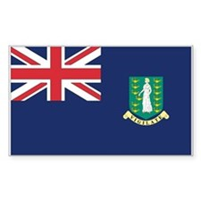 British Virgin Islands Rectangle Decal