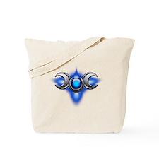 Blue Pagan Triple Goddess Tote Bag