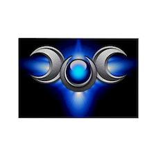 Blue Pagan Triple Goddess Rectangle Magnet