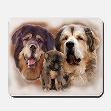 tibetan Mastiff family group Mousepad