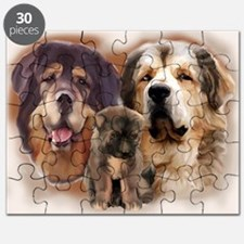 tibetan Mastiff family group Puzzle