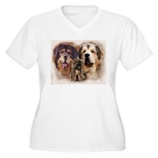 tibetan Mastiff family group T-Shirt