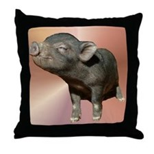 """Pot Belly Pig #1"" Throw Pillow"