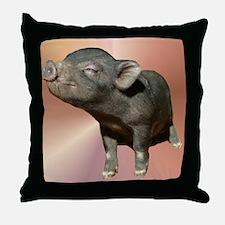 """""""Pot Belly Pig #1"""" Throw Pillow"""