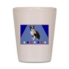 boston terrier stars Shot Glass