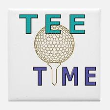 Sports novelty golf graphic Tile Coaster