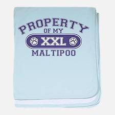 Maltipoo PROPERTY baby blanket