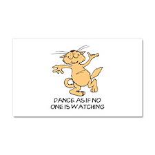 Dancing Cat Car Magnet 20 x 12