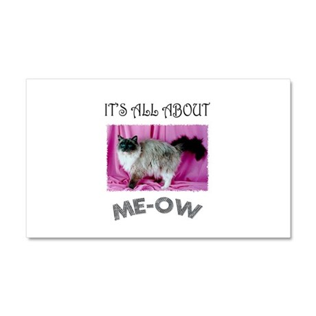 All About ME-OW Ragdoll Car Magnet 20 x 12