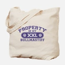 Bullmastiff PROPERTY Tote Bag