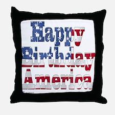 Happy Birthday America Throw Pillow