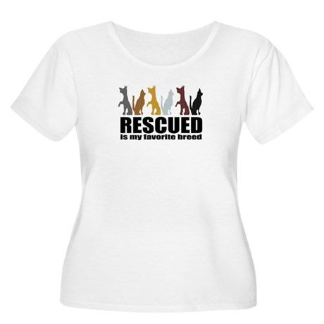 Rescued Women's Plus Size Scoop Neck T-Shirt