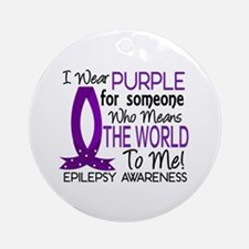 Means World To Me 1 Epilepsy Shirts Ornament (Roun