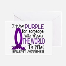 Means World To Me 1 Epilepsy Shirts Greeting Card
