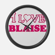 I Love Blaise Large Wall Clock