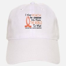 Means World To Me 1 Endometrial Cancer Shirts Baseball Baseball Cap